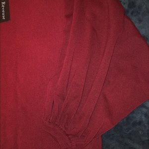 Sweaters - Burgundy size small Reveuse balloon sleeve top